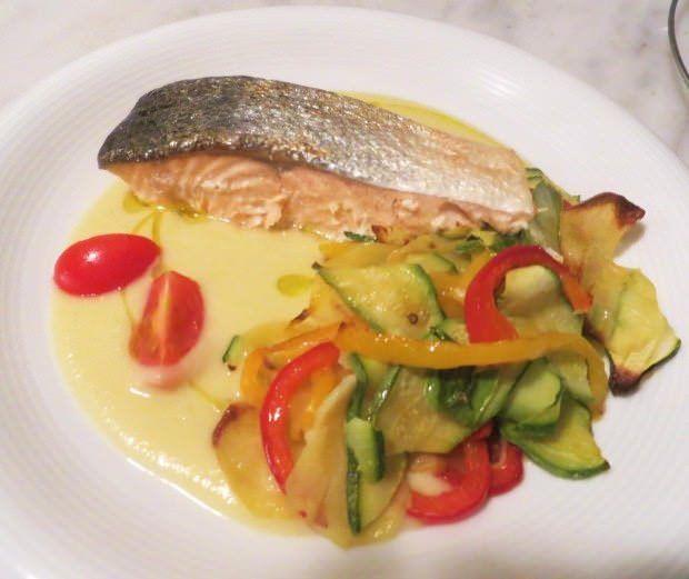 Salmone alle verdure ricetta e foto