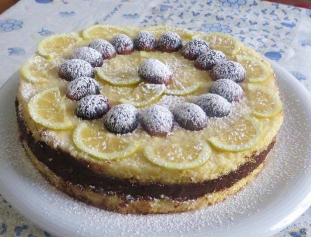 Torta al limone e cioccolato ricetta e foto