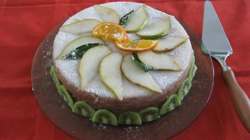 Torta glassata con cuore di cioccolato ricette della nonna - Torte natalizie decorate ...