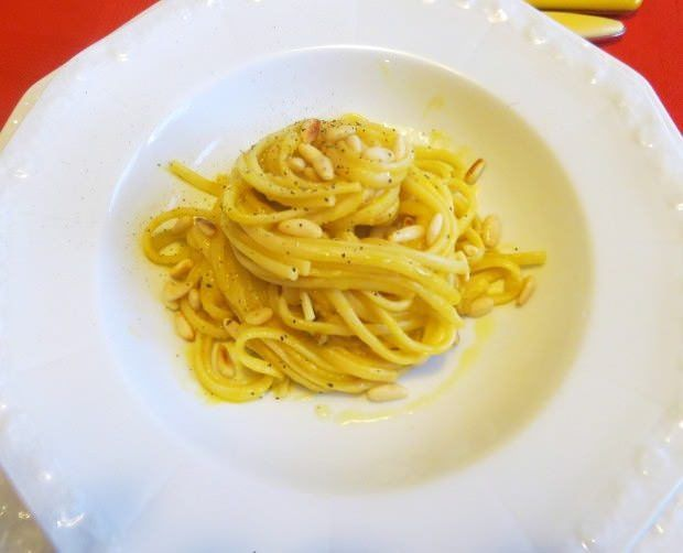 Foto linguine alla crema di zucca