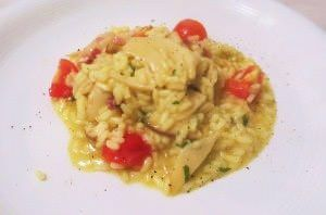 Risotto al curry e porcini
