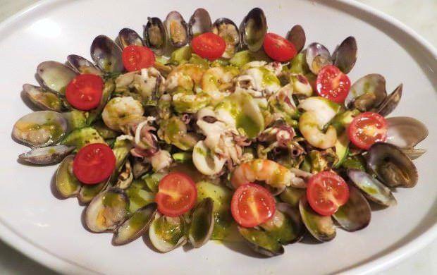gamberi calamari patate zucchine