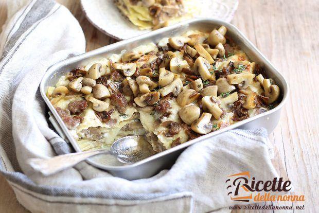 Lasagne ai funghi ricetta e foto