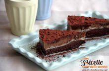 Sfogliata al cioccolato e crema al caffè