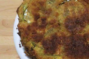 Torta di pane, patate e pesce azzurro