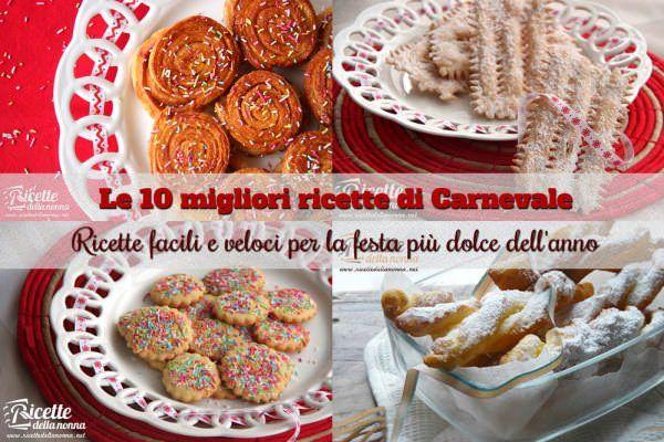 I 10 migliori dolci di Carnevale