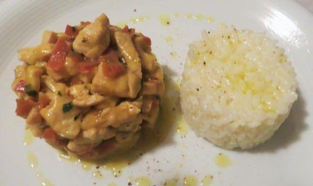 Pollo al curry speck e verdure ricetta e foto