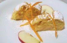 Strudel alla crema, mele annurche e arancia