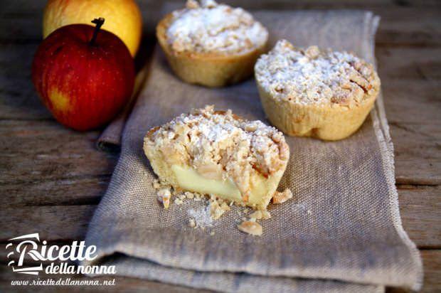 Tortine alle mele alla crema pasticciera ricetta e foto
