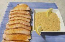 Fesa di tacchino con salsa ai carciofi e limone