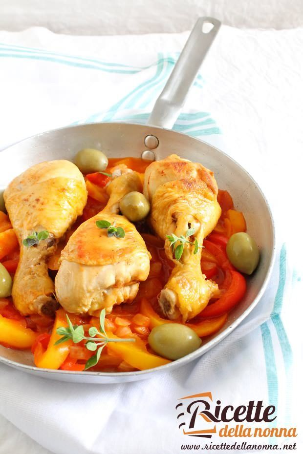 Foto pollo ai peperoni