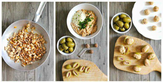 Preparazione olive all'ascolana