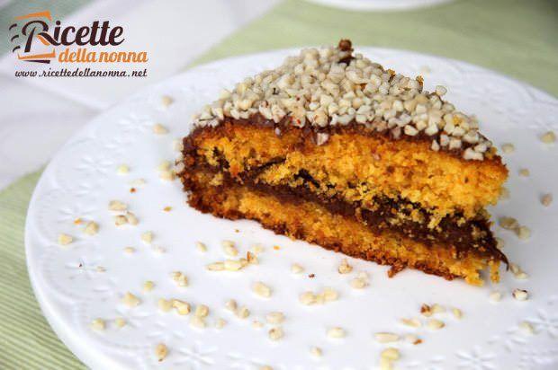 Ricetta torta carote Nutella mandorle