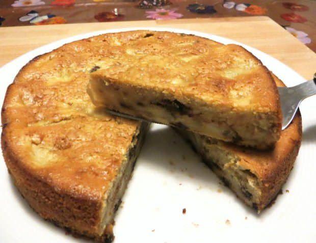 Torta di pere, noci e cioccolato ricetta e foto