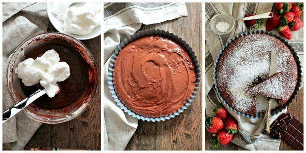 Preparazione torta al cioccolato supercioccolatosa