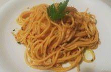 Spaghetti al sugo di triglie