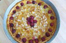 Crostata morbida di ciliegie e crema