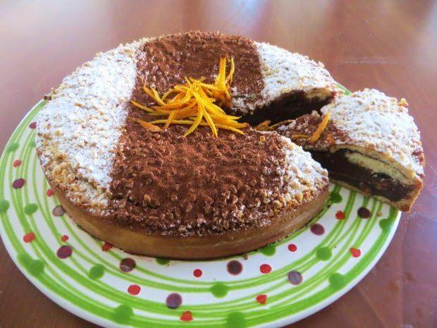 Torta al cioccolato e fiori d'arancio ricetta e foto