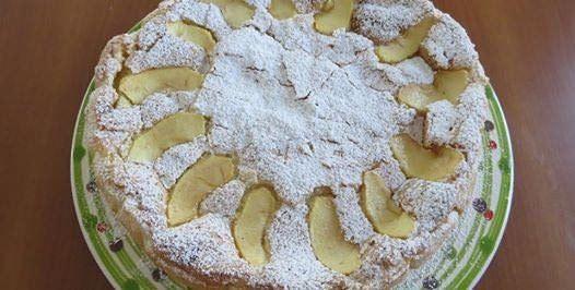 torta di mele meringata