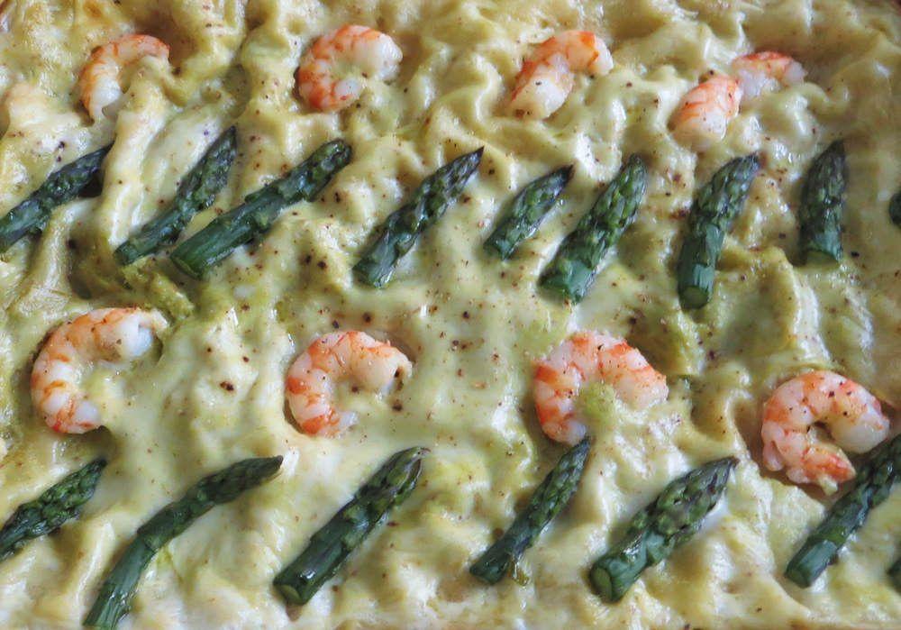 lasagne al pesto di asparagi e noci