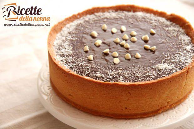 ricetta torta cocco ganache cioccolato