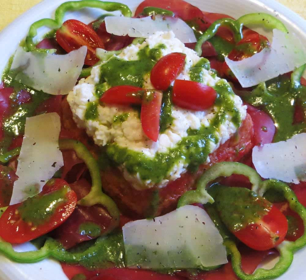 piatto unico con pappa al pomodoro