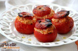 Pomodori ripieni con riso e provola