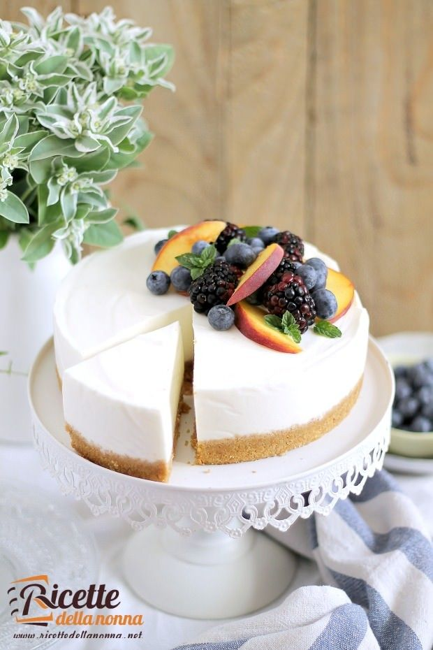 Cheesecake senza cottura allo yogurt ricetta e foto