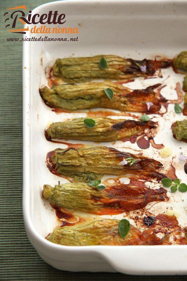 Fiori di zucca ripieni alla ligure ricetta e foto