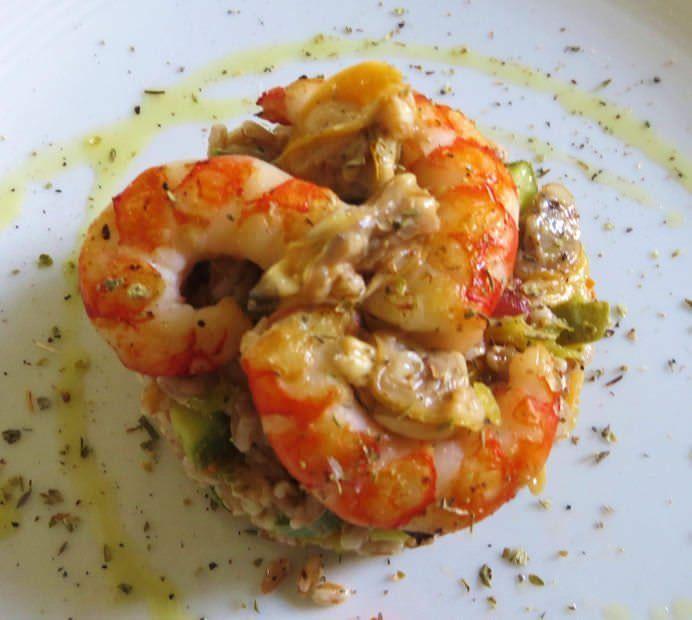 insalata di farro ai frutti di mare