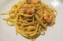 Spaghetti e gamberi