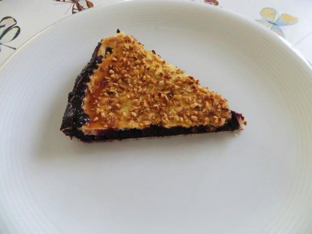 Torta con marmellata di mirtilli