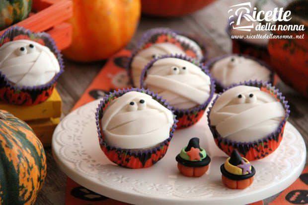 Mummia muffin di Halloween