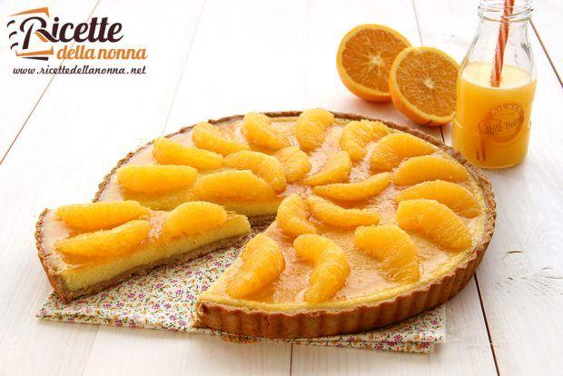 Ricetta crostata farina di marroni e crema di arancio