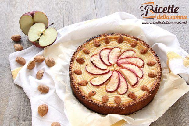 Ricetta torta alla crema di mele rosse