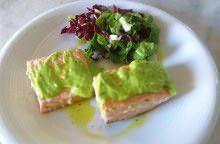Salmone in salsa verde