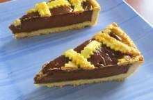 Crostata con crema di cioccolato e mascarpone