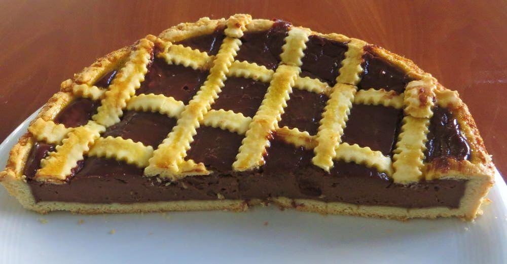 crostata con crema di cioccolato al mascarpone
