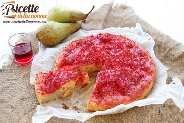 Torta alchermes e pere ricetta e foto