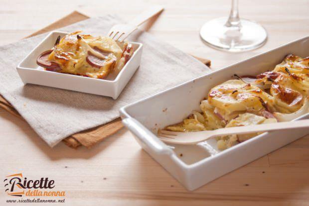 Terrina würstel patate-1 ricetta e foto