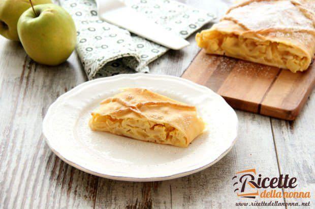 Strudel di mele e crema