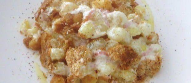 Gnocchetti ai formaggi gratinati