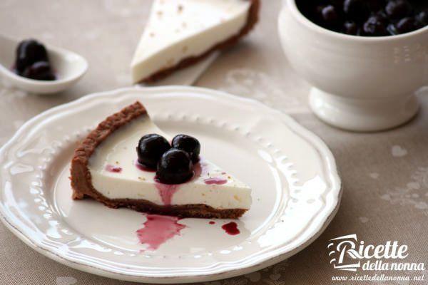 Crostata allo yogurt con frolla al cioccolato