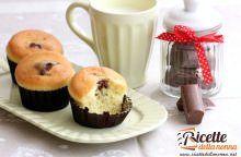 Muffin di cioccolato al latte