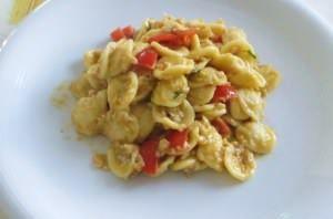 Orecchiette ai sugarelli e salsa di gamberi