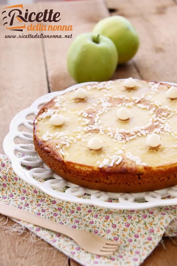 Favoloso Torta capovolta di mele verdi | Ricette della Nonna OD98