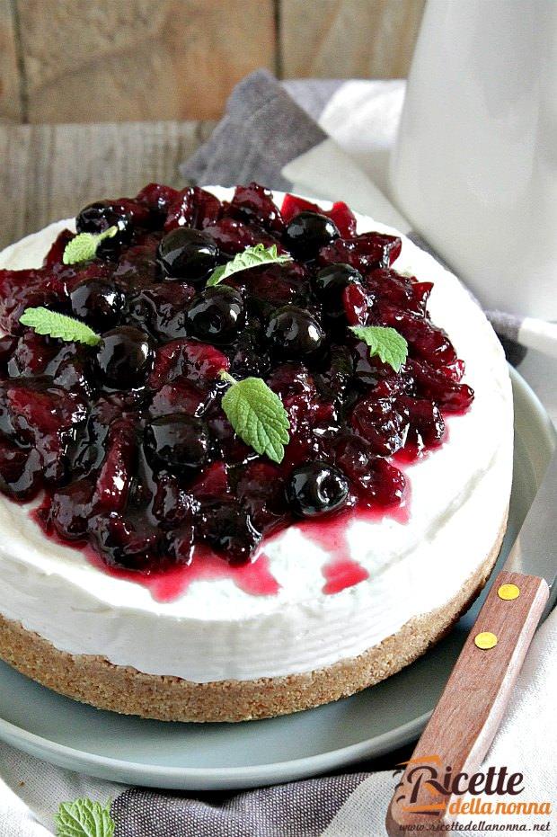 Cheesecake con ricotta ricetta