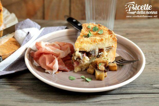 Tortino di patate e melanzane ricetta e foto