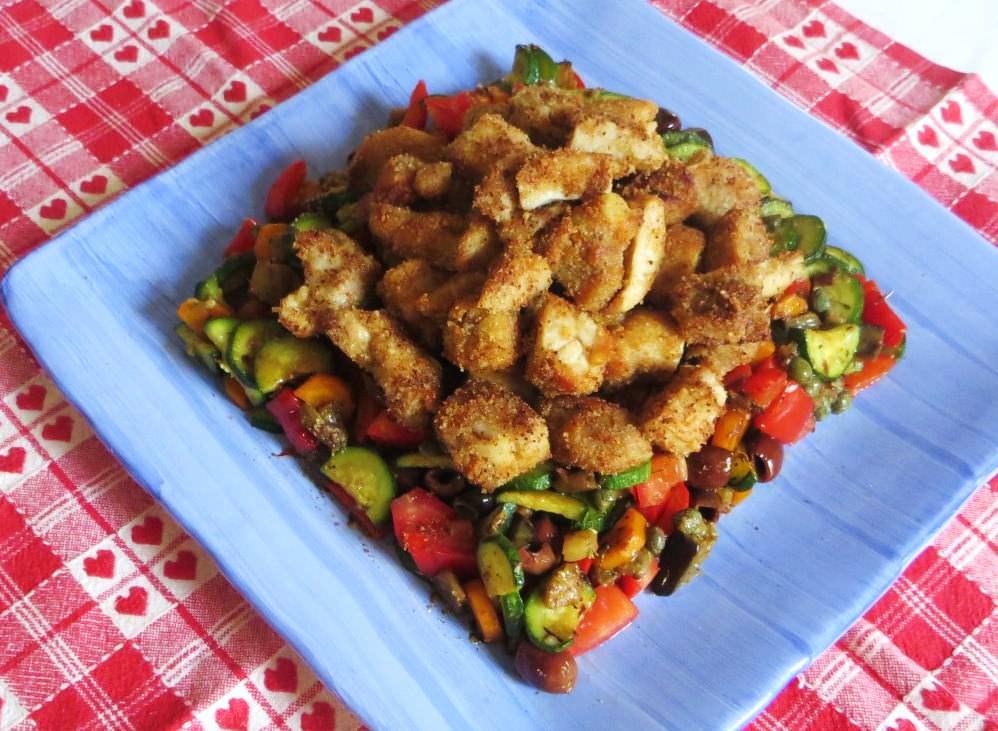Insalata di pollo con verdure ricette della nonna for Ricette con verdure