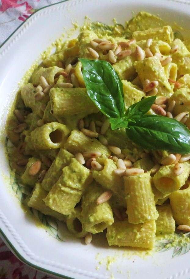 Mezze maniche alla crema di zucchine ricetta e foto
